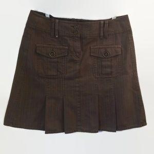 Super Cute Esprit Brown Pleated Denim Skirt Size 8